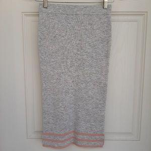 Asos Gray Pencil Maxi Skirt